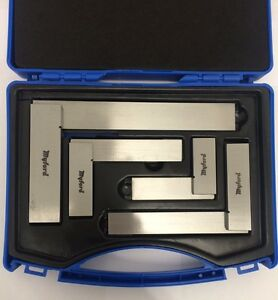 """NEW SET OF 4 ENGINEERS SQUARES, 2"""" , 3"""" , 4"""" , 6"""" - DIRECT FROM MYFORD"""