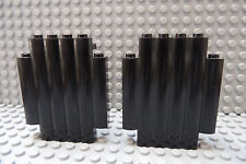 LEGO Lot of Two Black 2x5x6 Log Castle Walls as Shown
