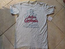 ST. LOUIS CARDINALS T SHIRT (LRG) BY MAJESTIC THREADS NWT $35 ULTRA SOFT GRAY