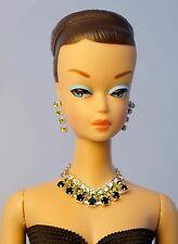 Barbie Repro Vintage FR Handmade Necklace Earrings Rhinestone Jewelry NE1390