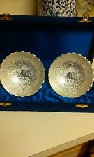 Vintage Silver Elephant Collectors Serving Bowls - Set of 2 Gift Box India