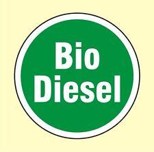 Bio Diesel tanken Tankdeckel Achtung Aufkleber 80 mm Ø Auto Car Sticker Nr. 7592