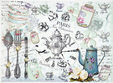 Carta di riso per Decoupage Decopatch Scrapbook Craft sheet Vintage Pasticceria