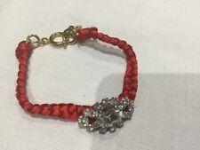 Juicy Couture Nuevo Y Genuino Rojo/Oro Amistad Pulsera con el logotipo de corona