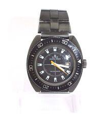 Meister Anker Taucher Diver Uhr watch Armbanduhr schwarz black waterproof 70er
