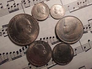 GUINEA Complete 6-coin Set 1962 1969 1971 KM4-8;41 Cu-Ni All 1yr types VERY RARE