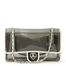Chanel PVC Transparent Flap Bag Vinyl, White Medium, Very Good Condition, RARE!