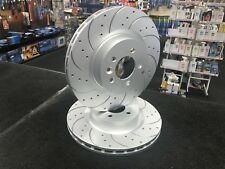 RANGE ROVER 3.0TD6 CROSS DRILLED GROOVED BRAKE DISC FRONT