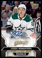 2020-21 UD MVP Autographs Auto - Rookies #249 Jason Robertson RC - Dallas Stars