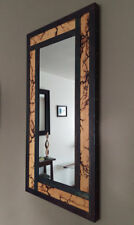 High Voltage Steel and Fir Lichtenberg Mirror Piece