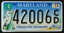 """MARYLAND """" CHESAPEAKE WILDLIFE HERON CRAB  """" MD Specialty Graphic License Plate"""
