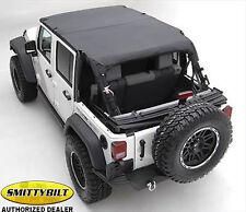 Smittybilt 94635 Extended Top for 10-17 Jeep Wrangler JK Unlimited 4 Door Black