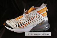 NIB NIKE AIR MAX 270 ISPA White Ghost Aqua Amber Rise Shoes BQ1918 10 10.5 NoLid