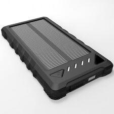 MixBin 8000 mAh Portable Solar Charger (Black)