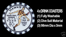 4 x HAWKS HAWTHORN PREMIERS WITH YEARS WON  AUSSIE RULES DRINK COASTERS