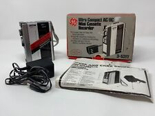 General Electric GE 3-5317 AC/DC Cassette Mini Recorder Player Works Mint in Box