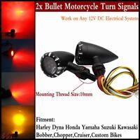 Motorcycle LED Bullet Turn Signal Lights Brake Running Lamps Fits Harley Dyna