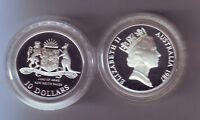 1987 Silver Proof $10 Coin New South Wales Australia State Series  in capsule