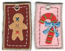 Gingerbread man Candy Cane Christmas Patch Lot