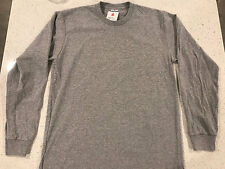 Supreme Blank Long Sleeve Tee T-Shirt Large Heather Grey Cut Tag Kmart Box Logo