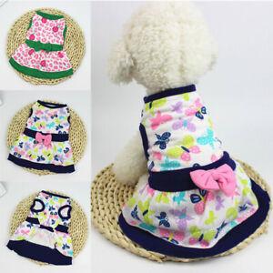 Dog Skirt Pet Dress Cotton Small Dog Princess Dress Chihuahua Puppy Cat Clothes*