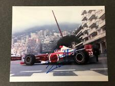 JACQUES VILLENEUVE  PERSONALLY SIGNED PHOTO  IN MONOCO