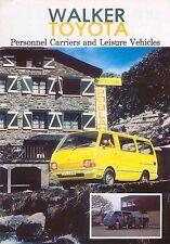 Toyota Hi-ace Walker Minibus Caravan cruisa van 1978 Original del Reino Unido folleto de ventas