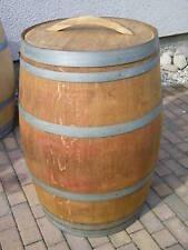 """Weinfass Regentonne mit Deckel und Griff, aufgearbeitet im Farbton """"Eiche"""""""