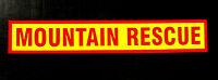 Mountain Rescue Fluorescent Self Adhesive Sticker Sign