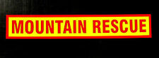 Mountain Rescue Fluorescent Magnetic Warning Sign