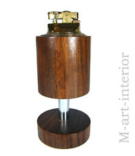 60er Tisch-Feuerzeug Nußbaum Space Age wallnut table lighter 1960´s vintage