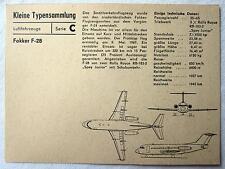 DDR Kleine Typensammlung Luftfahrzeuge - Fokker F-28