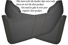 RED STITCH FITS VW T4 TRANSPORTER CARAVELLE 90-03 2X DOOR POCKETS COVERS