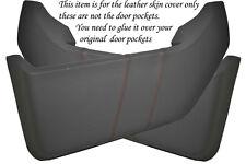 Rojo Stitch encaja Vw T4 Transporter Caravelle 90-03 2x Puerta bolsillos cubre
