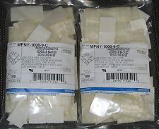 "Lot of 200 Pcs - Thomas & Betts Adhesive Mounting 1""x1"" Base MPNY-1000-9-C NEW"