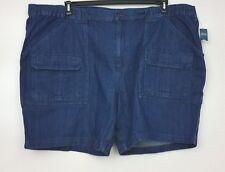 Croft & Barrow Denim Shorts Sz 54 Big & Tall Dark Blue Wash 100% Cotton NWT