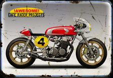 Honda Cr Cb 750 A3 Metal Sign Motorbike Vintage Aged