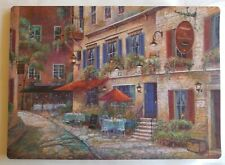 """CAFE FRONT COBBLESTONE -.city   Plastic - Foam Placemats 18""""x13"""" in  set of 4"""