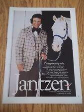 1973 VINTAGE PRINT AD FOR JANTZEN RODEO CHAMP LARRY MAHAN WHITE HORSE 3 PC SUIT