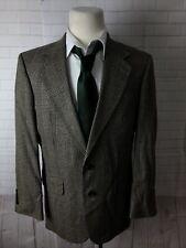 Oscar de la Renta Men's Brown Blazer Plaid  Blazer 42R $979