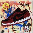8x8 Graffiti Michael Jordan Air Reverse Bred Low 1 Mickey Mouse Art Painting