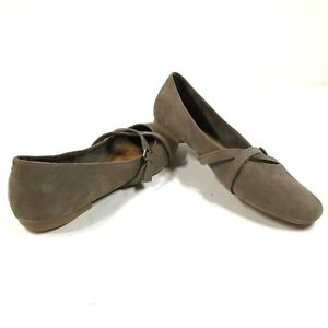 Seychelles Flats Slip On Loafers Shoes Taupe Gray Brown Strappy Womens 10