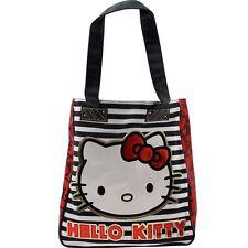 $56 Hello Kitty Stripe Bows Tote Bag (black / red / white)