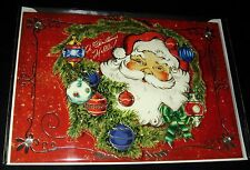 "Punch Studio 3-D Christmas Card, Envelope & Seal Cherry Santa 64449 5"" x 7"""