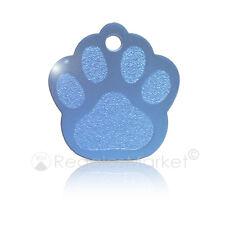 Chapa identificación/placa identificacion pata para collar gatos/perros GRABADA