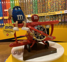 M&M's World RED Airplane Plane Chocolate Candy Dispenser Excellent Gift Favor