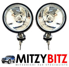 "2 x FRONT BUMPER  CHROME 6"" ROUND SPOT FOG LAMP LIGHT for PAJERO SHOGUN L200"