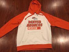 Men's NFL Team Apparel Denver Broncos Hoodie Sweatshirt Medium M Football