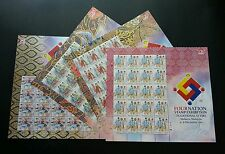 Malaysia Traditional Attire Four Nation Expo 2015 Costumes (sheetlet) MNH *rare