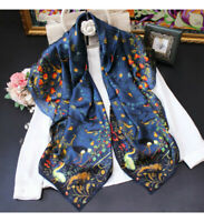 """WOMEN 100%MULBERRY SILK 41""""SQUARE SCARF SHAWL FLORAL PRINT #100203 HAND ROLLED"""
